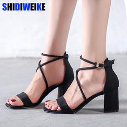 $enCountryForm.capitalKeyWord Canada - Gladiator Women Sandals Fresh Black Cross Strap High Heels Pumps Fashion Summer Party Ladies Shoes N683 Y19070603