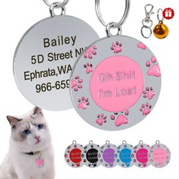 $enCountryForm.capitalKeyWord Australia - Dog Tag Dog Collar Accessories Pet Puppy Cat Name ID Tag Personalized Custom Tags Engraved For Dogs Cats Pink Anti-lost