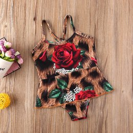 infant suits wholesales Canada - Infant Baby Girls Kids Flowers Swimsuit Swimwear Swimming Bikini Bathing Suit
