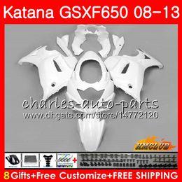 $enCountryForm.capitalKeyWord Australia - Kit For SUZUKI KATANA GSXF 650 GSX650F 08 09 10 11 12 13 14 18HC.8 GSXF-650 GSXF650 2008 2009 2010 2011 2012 2013 2014 Fairing glossy white