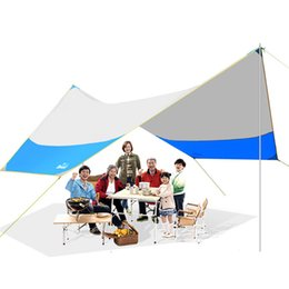 Large canopy online shopping - 465 cm outdoor beach sun shelter camping tent canopy large folding rainproof awning balcony canopy tarp for People