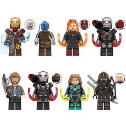 $enCountryForm.capitalKeyWord Australia - 8pcs Avengers Super Hero Iron Man Nebula Captain Marval War Machine Thor Hawkeye Mini Toy Figure Building Block Toy For Kid Boy Girl