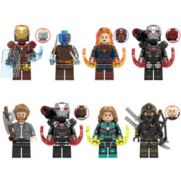 block wars Australia - Avengers Super Hero Iron Man Nebula Captain Marval War Machine Thor Hawkeye Mini Toy Figure Building Block Toy For Kid Boy Girl