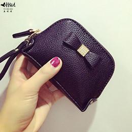 Wholesale Wrist Zipper Wallet Australia - Diamond Wallet Coin Purse Leather Lady Women Fashion Mini Small Women&s Wallets Purses Wrist Zipper High Quality Vogue