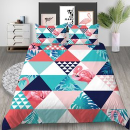 $enCountryForm.capitalKeyWord Australia - Diamond Pattern Bedding Set Queen Size Geometric Creative 3D Printed Duvet Cover King Home Deco Double Single Bed Cover with Pillowcase