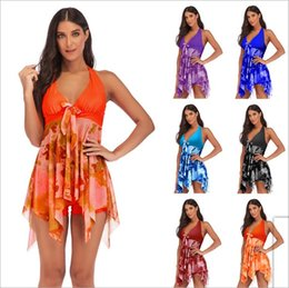 2715d5c22411c Bikini Swimdress Plus Size Sexy Swimwear Women Clothes Swimsuit Cover-Ups  Fashion Slim Biquini Summer Holiday Bathing Suits Beachwear B4159
