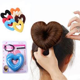 Foam bun accessory online shopping - LOEEL Hair Donut Bun Heart Maker Magic Foam Sponge Hair Styling Tool Princess Hairstyle Bands Accessories for Women