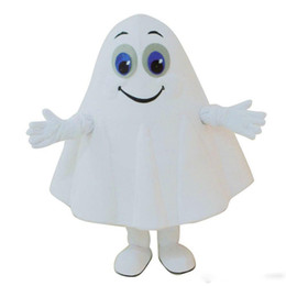 Chinese  High quality hot Cartoon White Ghost Mascot Costume Fancy Party Dress Halloween Carnival Costumes Adult Size manufacturers