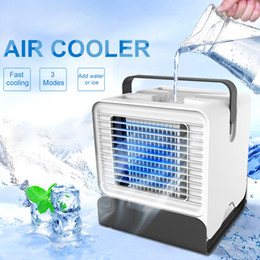 Mini Air Cooler Desktop Portable Fan USB Air Conditioner Negative Ion Humidifier Purifier with Night Light from electronic microphones suppliers