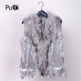 $enCountryForm.capitalKeyWord Australia - 2019 New Colors Women Genuine Real Rabbit Fur Vest Coat Tassels Raccoon Fur Collar Waistcoat Wholesale Drop Shipping Vr032 Y190828