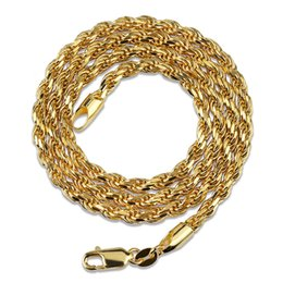 """14k Twisted Chains Australia - 925 Sterling Silver Necklace Chain for men women Gold Silver Plated Twist Rope Chain 3mm 18""""22"""""""