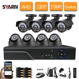 Dvr Channel Cameras NZ - 8CH 1080N HDMI DVR 1mp 720P HD Outdoor Indoor video Security Camera System 8 Channel AHD CCTV System DVR Kit 8 CH Set