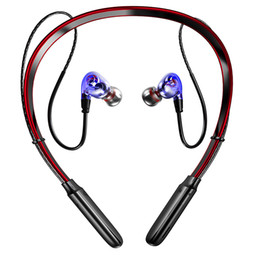 Computer Wireless Headphone Microphone Australia - Newest Bluetooth Earphone V5.0 Wireless Headphones 3d Stereo Sport Earbuds Neckband Earphone With Microphone For All Phone T6190614