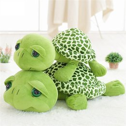 $enCountryForm.capitalKeyWord Australia - 20cm Super Cute Green Big Eyes Tortoise Plush Toy Soft Animals Turtle Toys Baby Doll Children Gift