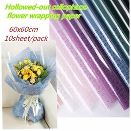 $enCountryForm.capitalKeyWord Australia - Double Layer Hollow-out Waterproof Christmas Wrapping Paper Gift Wrap Wedding Party Supplies Clear Cellophane Packing Material