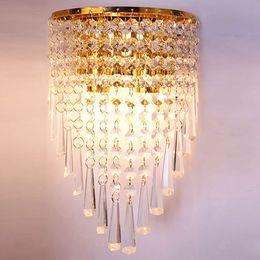 $enCountryForm.capitalKeyWord Australia - Modern Hallway Stairway Bedside Living Room E12 K9 Crystal Mirror Stainless Steel Wall Lights Wall Lamps Night Light Lamps Fixtures Lights