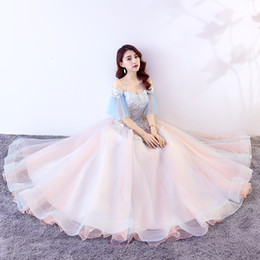belle cosplay dress Canada - 100%real fairy opera stage ball gown cosplay court medieval dress renaissance Gown queen Victorian  Marie  Belle Ball drama ball gown