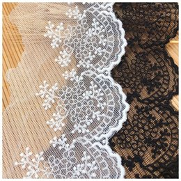 $enCountryForm.capitalKeyWord NZ - 9.4cmwide 9yards lot white black cotton mesh Embroidered Lace Trims Fabric Tassel for Sewing Wedding Dress Sexy Underwear Crafts Accessories