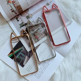 5aef1d384c Iphone Cover Cat Ear Australia - For Iphone X XS 8 7 Case Kawaii 3D  Electroplated