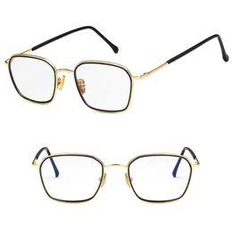 b145aae6264 New Design Optical Glasses Square Metal Frame Clear Lens Transparent  Universal Unisex Fashion Eyeglasses Eyewear Optic