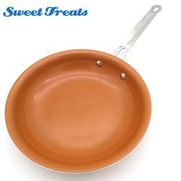 aluminum ceramic coating UK - Sweettreats Non-stick Copper Frying Pan with Ceramic Coating and Induction cooking,Oven & Dishwasher safe 10 Inches T200523