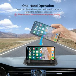 free desk pad NZ - 2019 Anti-Slip Silicone Car Phone Dashboard Pad Mat Hands-free Cell Phone Holder Desk Stand