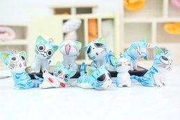 japan cat toy NZ - 90pcs lot Cartoon cute Chi's sweet home Blue cat model Pandant Japan anime 9 kinds different expression 3D cat PVC key chain toy