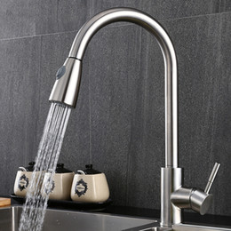 $enCountryForm.capitalKeyWord Australia - Kitchen Faucets Silver Single Handle Pull Out Kitchen Tap Single Hole Handle Swivel 360 Degree Water Mixer Tap