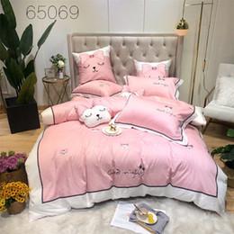 Luxury Egyptian Cotton Australia - Egyptian Cotton Luxury Europe Bedding Set Queen King Bed Sheet Linens set Oriental Embroidery Bed set Duvet Cover Pillowcase