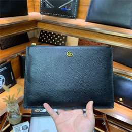 Branded Leather Bags For Men Australia - new arrival brand designer men clutch bags top quality England Style handbags genuine leather hand bags for men