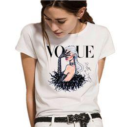 $enCountryForm.capitalKeyWord Canada - Summer Top 2019 Harajuku T Shirt Women Tops Korean Fashion Princess VOGUE Print White Short Sleeve Tee Shirt Femme Tumblr Punk