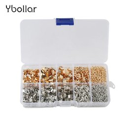 Lobster Extension Chain Australia - 1 Box Crafts Jewelry Making Fold Over Cord End Crimps Jump Rings Lobster Clasps Extension Chain Box Kit For Necklace Bracelet DIY
