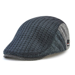 24a70519df597 military berets 2019 - Wholesale New Fashion Men s British Style Cap Autumn  And Winter Trendy Knitted