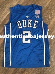 numbered basketball jerseys Australia - #2 Gary Trent JR Duke Blue Devils White College Top Basketball Jersey Customize any number and name stitched embroidery XS-6XL Vest Jerseys