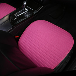 universal car seat cover wholesale NZ - Seasons Universal Car Seat Cushion Auto Interior Accessories Soft Pink Car Seat Cover For Front Seat