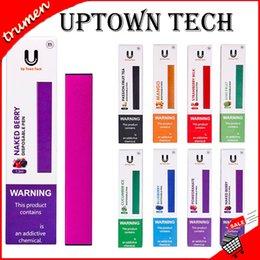 Toptan satış Otantik Uptown-Tech Tek Kullanımlık Pod Kiti 280 mah Pil 1.3 ml 8 Tatlar ile Vape Kalem Cihazı Kartuş Kitleri UptownTech VS puf bar Pod Kiti