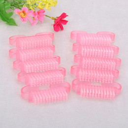 Nail Art Dust Cleaning Brush Plastic Handle DIY Pedicure Manicure Nail Cleaning Scrubbing Brushes Tools RRA953 on Sale