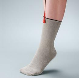 $enCountryForm.capitalKeyWord Australia - Foot Massager Sock Anti -Static ,Anti -Skid ,Breathe Freely .Conductive Silver Fiber Socks Used With Ems  Tens Massager