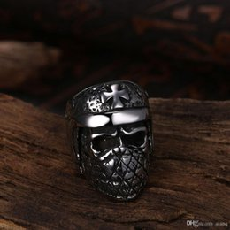 $enCountryForm.capitalKeyWord Australia - Ancient Mayan Fashion Ring Mens Rings Quirky Shape Stainless Steel Ring Men's Punk Style Biker Rings Jewelry Gothic Skeleton Skull Ring