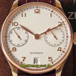 $enCountryForm.capitalKeyWord NZ - ZF Top version Portugieser IW500113 Power Reserve White Dial Cal.51011 Automatic Mens Watch Sapphire Rose Gold Case Leather Strap Watches