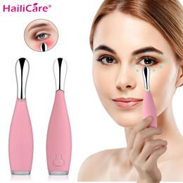 Mini pen Massager online shopping - Beauty Mini Eye Massage Device Pen Type Electric Eye Massager Facials Vibration Thin Face Magic Stick Bag Pouch Wrinkle T190712