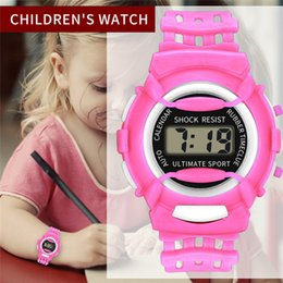 kids digital sports watch Australia - Delicate Children Girls LED Digital Watches Fashion Electronic Sport Student Kids Watch Child Waterproof WristWatch 2019 New