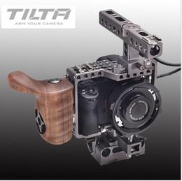 $enCountryForm.capitalKeyWord Australia - Freeshipping Tilta ES-T17A A7 camera dslr Rig A7S A7S2 A7R A7R2 Rig Cage + Baseplate + Wooden Handle For SONY A7 TILTA ES-T17-A