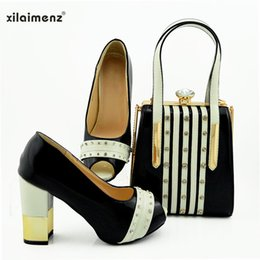 shoes matching clutch bag NZ - Black Color Royal Wedding Clutch Bag Match African Women Shoes and Bag Matching Set Italian Shoes and Match To Party