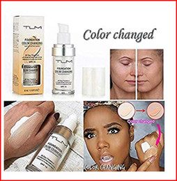 Oil Oily Skin Australia - Foundation Makeup Base Nude Face Moisturizing Liquid Concealer TLM Flawless Colour Changing Warm Skin Tone SPF15 bea12a DHL