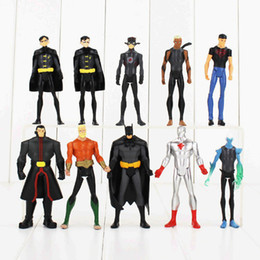 $enCountryForm.capitalKeyWord UK - superman action figure 10pcs lot 12cm Superman Action Figures Batman Green Lantern Aquaman The Flash Dolls PVC ACGN figure Toys Brinquedos