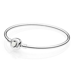 $enCountryForm.capitalKeyWord Australia - Authentic 925 Sterling Silver Wonderful Love Heart Clasp Snake Chain Bangle For Women fit Lady Bead Charm Pendant Jewelry
