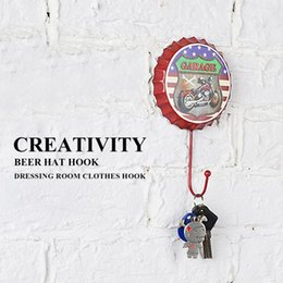 Dress craft fabrics online shopping - NOCM New Retro Creative Beer Cover Hook quot GARAGE quot Character Personality Hook Dressing Room Clothes Home Wall Crafts Iron D