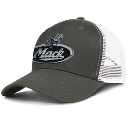 Cotton Trucks Australia - Womens Mens Flat-along Adjustable Mack Trucks Logo1 Hip Hop Cotton Peaked Cap Golf Bucket Hats Cadet Army Caps Airy Mesh Hats For Men Women