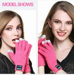 $enCountryForm.capitalKeyWord Australia - Factory price 2Pcs Warm Beanie Gloves Wireless Bluetooth Smart Cap Headset Speaker Mic E256 UNISEX WARM GLOVES